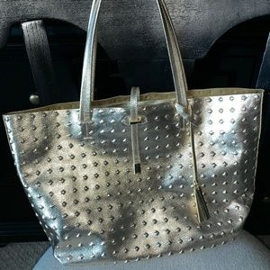 Vince Camuto Leila Gold Tote